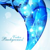 beautiful abstract blue color shiny eps10 vector background poster