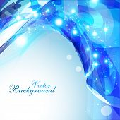 abstract shiny eps10 blue color background poster