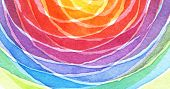 Abstract rainbow acrylic and watercolor circle painted background. Texture paper. poster