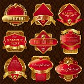 Vector collection of luxury labels poster