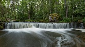 Waterfall in Lahemaa National Park, Estonia - long exposure shot