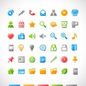 vecteur web icons set