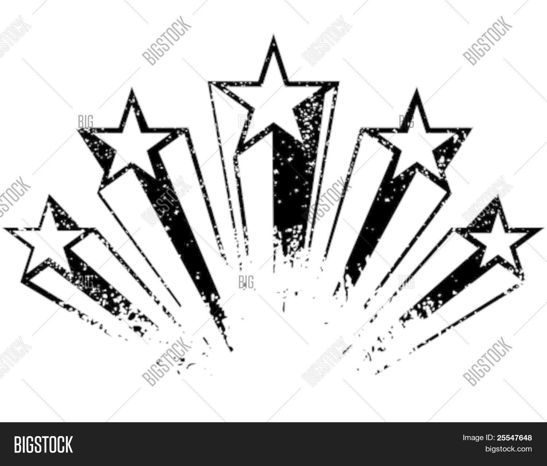 Shooting Stars Vector Photo Free Trial Bigstock
