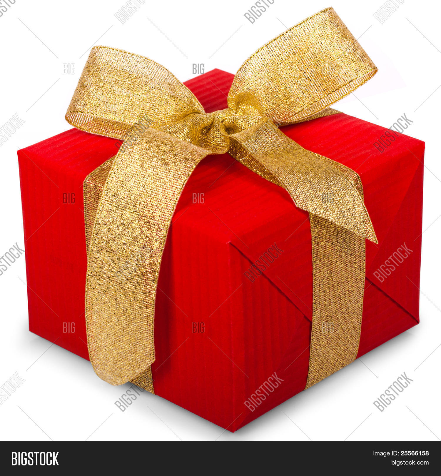 Christmas gift box image photo free trial bigstock christmas gift box with a gold ribbon bow isolated on white background negle Images