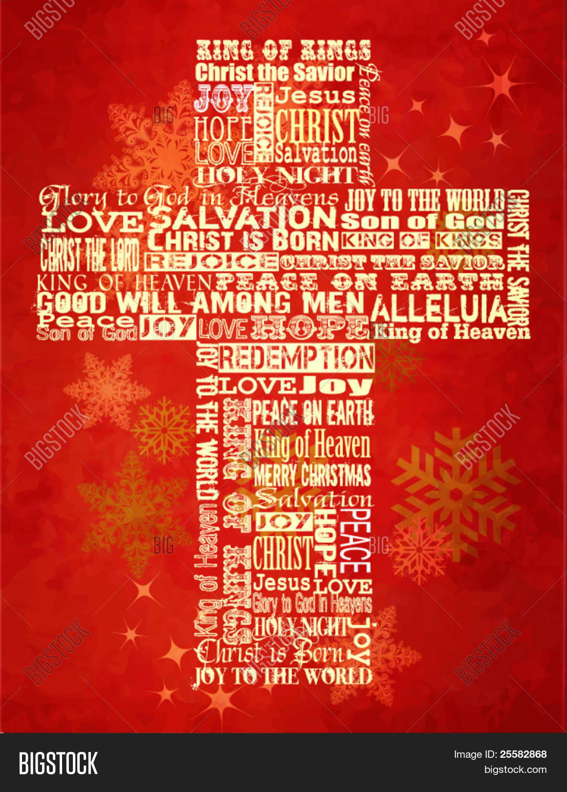 Christmas cross bright christmas vector photo bigstock christmas cross bright christmas background with christmas greetings in the shape of the cross kristyandbryce Images