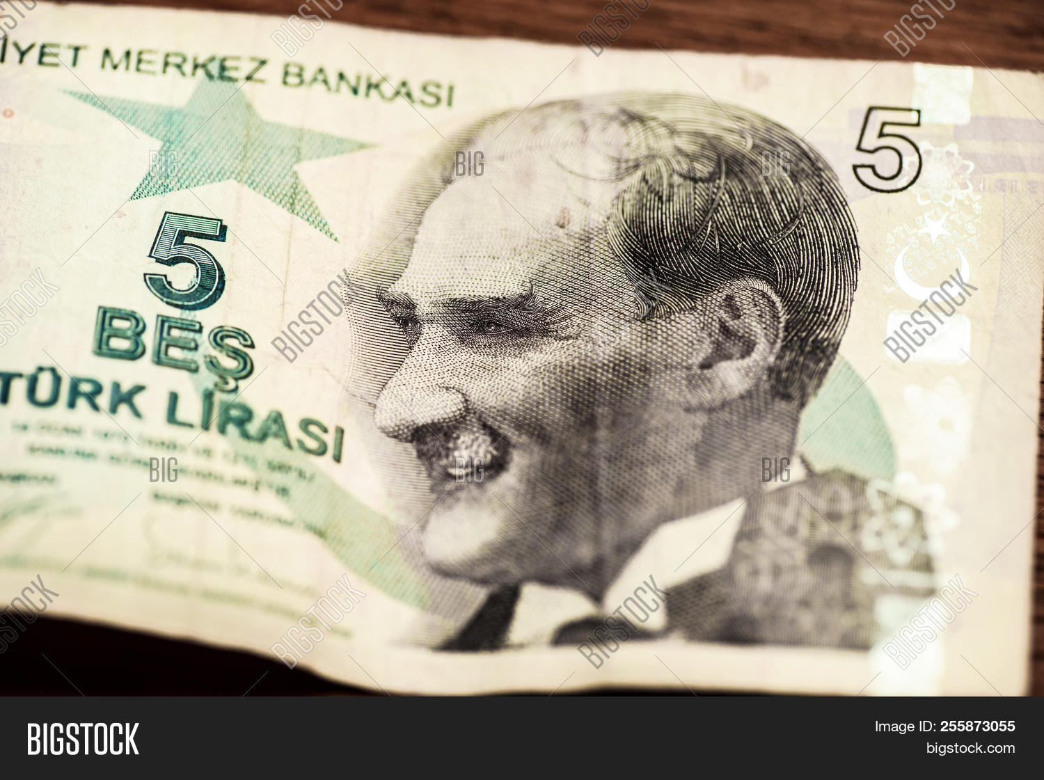 Close Turkish Lira Image Photo Free