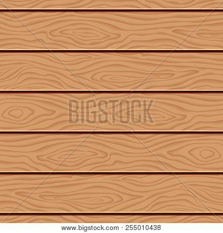Realistic Wooden Texture. Grunge Retro Vintage Wooden Texture, Vector Background. Wooden Vector Back