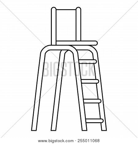 Tennis Tower For Judges Icon. Outline Illustration Of Tennis Tower For Judges Icon For Web