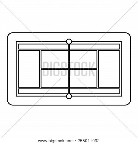 Tennis Court Icon. Outline Illustration Of Tennis Court Icon For Web