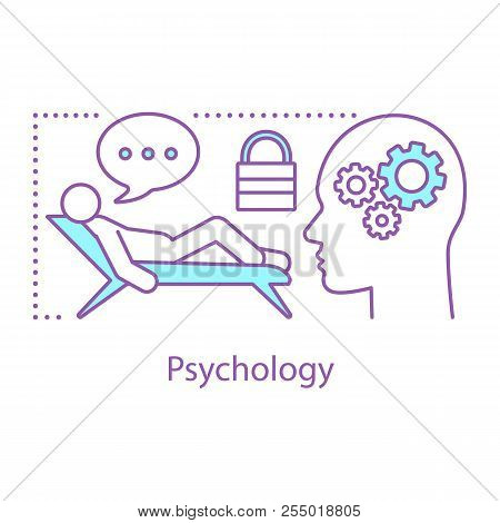 Psychology Concept Icon. Subconscious Mind Idea Thin Line Illustration. Psychotherapy. Psychologist