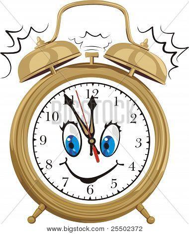 alarm clock - smiling clock face