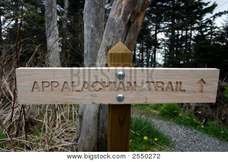 Sign - Appalachian Trailhead North Carolina
