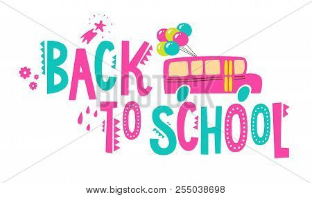 Back School Poster Vector Photo Free Trial Bigstock