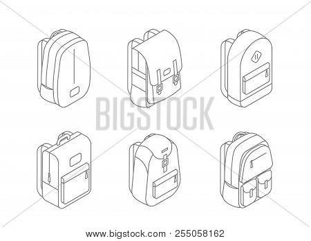 Stock Vector School Bags Vector Set Images Illustrations Vectors