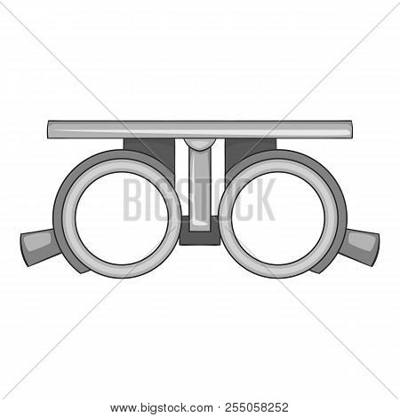 Frame For Checking Vision Icon. Gray Monochrome Illustration Of Frame For Cheking Vision Icon For We
