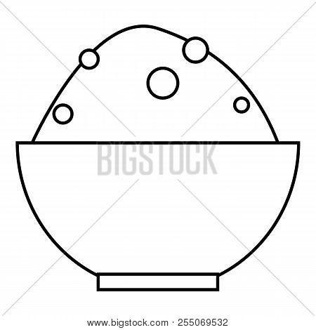 Rice In Bowl Icon. Outline Illustration Of Rice In Bowl Icon For Web