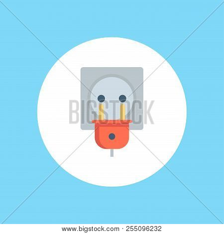 Electrical Plug Icon. Element Of Web Icons For Mobile Concept And Web Apps. Nolan Style Electrical P