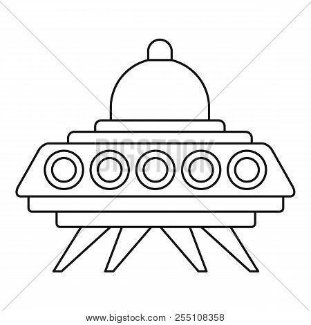 Ufo Flying Saucer Icon. Outline Illustration Of Ufo Flying Saucer Icon For Web