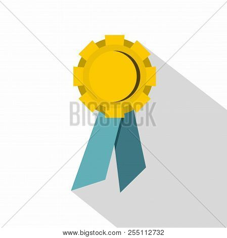 Champion Medal Icon. Flat Illustration Of Champion Medal Icon For Web
