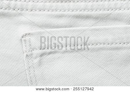 Jeans Background Denim Jeans Background With Seam Of Jeans Fashion Design. Jeans Texture With Seams.
