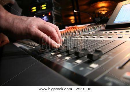 Audio Technician At Work