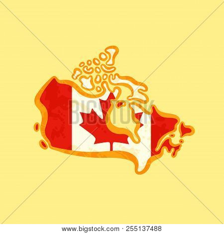Colored Map Of Canada.Map Canada Colored Vector Photo Free Trial Bigstock