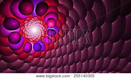 Magical Mysterious Light. 3d Surreal Illustration. Sacred Geometry. Mysterious Psychedelic Relaxatio