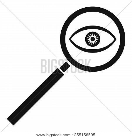Magnifying Glass Icon. Simple Illustration Of Magnifying Glass Icon For Web