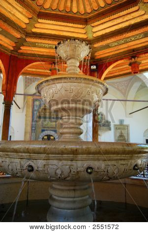 Fountain in Gazi Husref Bey Mosque Sarajevo poster