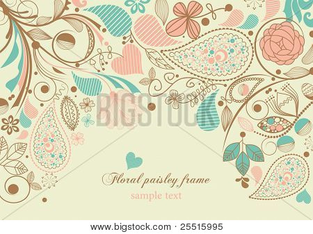 Floral paisley frame