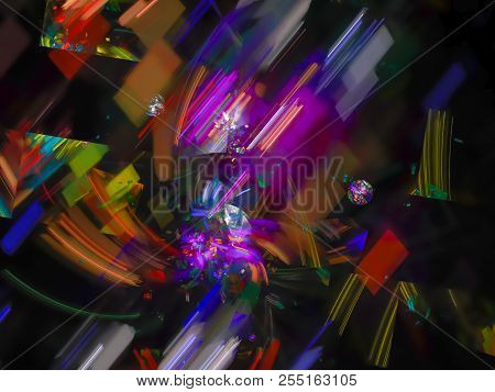 Abstract Digital Fractal Color Background   Lucent, Texture, Banner