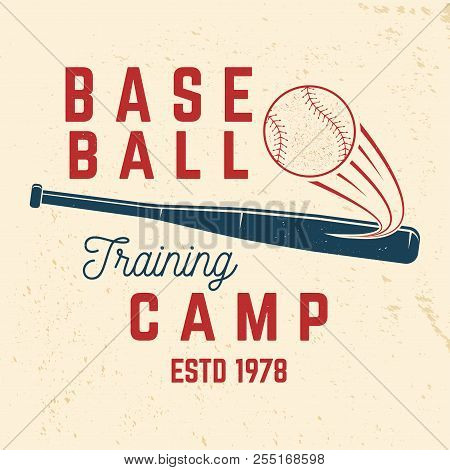 Baseball Training Camp. Vector Illustration. Concept For Shirt Or Logo, Print, Stamp Or Tee. Vintage