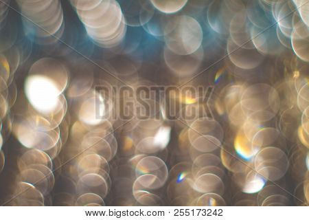 Blurry ambient photo. Abstract contemporary wallpaper. Purple blurry lights poster