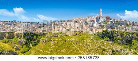 Panoramic View Of Ancient Town Of Matera, Sassi Di Matera, Basilicata, Southern Italy