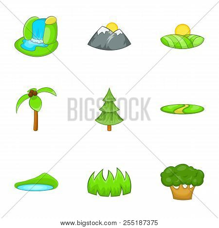 Flora Icons Set. Cartoon Illustration Of 9 Flora Icons For Web