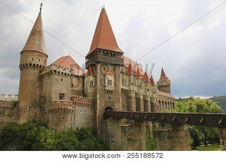 Medieval Hunyad Or Corvin Castle, Hunedoara Town, Transylvania Region,romania,europe
