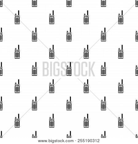 Portable Handheld Radio Pattern. Simple Illustration Of Portable Handheld Radio Pattern For Web