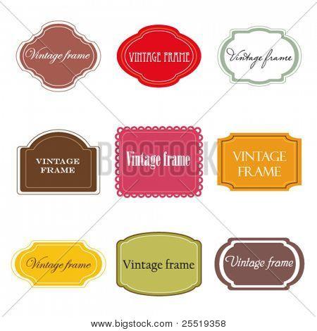 Vector set of vintage labels