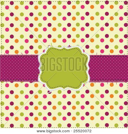 Polka dot patchwork design with frame