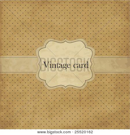 Vintage card with  frame
