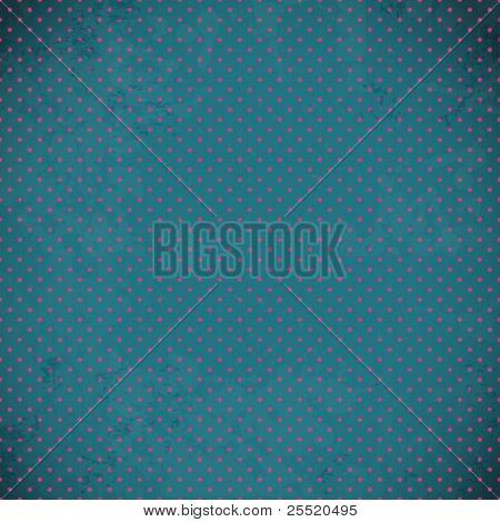 Blue vintage polka dot texture