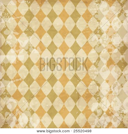 Vintage texture with rhombuses