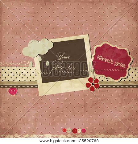 Pink scrap template