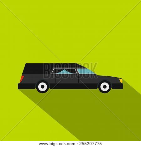Hearse Icon. Flat Illustration Of Hearse Icon For Web