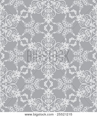 Snowflakes on silver background