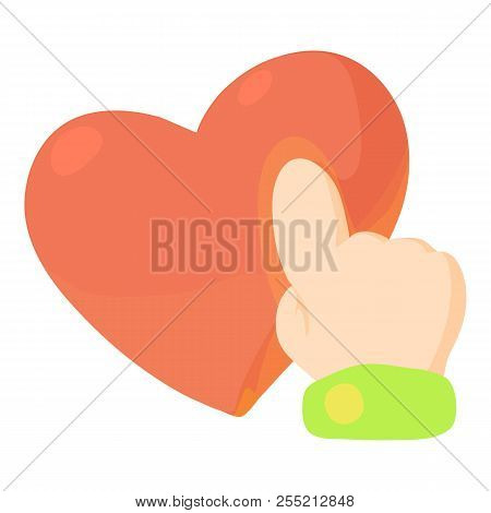 Heart Touch Icon. Cartoon Illustration Of Heart Touch Icon For Web