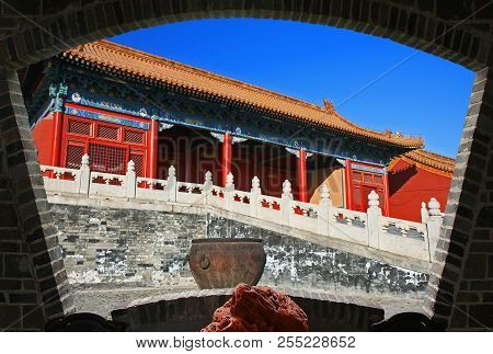 The Historical Forbidden City Museum In The Center Of Beijing