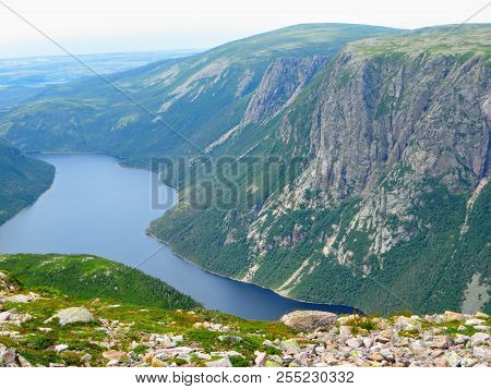 Hiking In Beautiful Gros Morne National Park Atop Gros Morne Mountain In Newfoundland And Labrador,