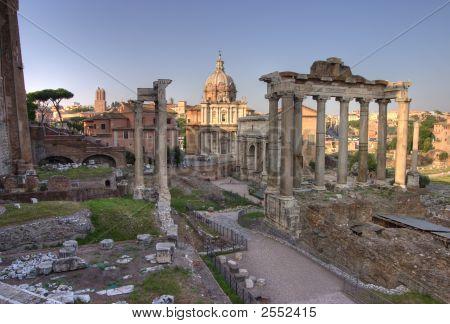 Forum Romanum In Rome, Hdr Image