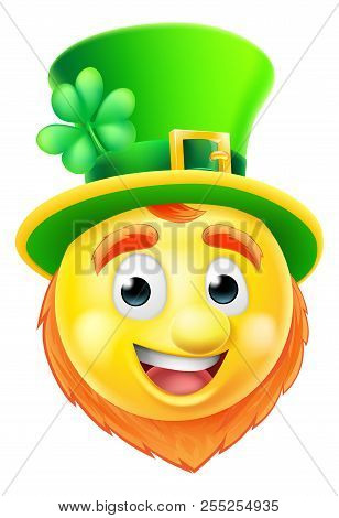 A Cartoon St Patricks Day Leprechaun Emoji Emoticon Character